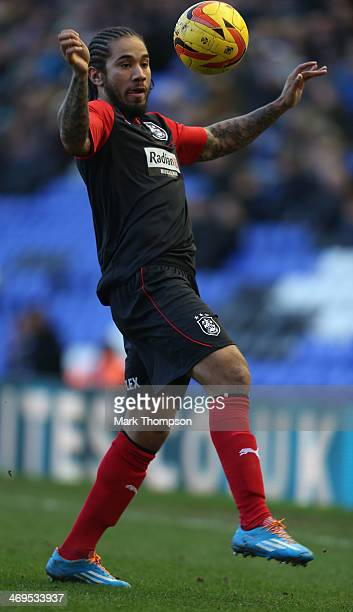 Sean Scannell of Huddersfield Town in action during the Sky Bet Championship match between Birmingham City and Huddersfield Town at St Andrews on...