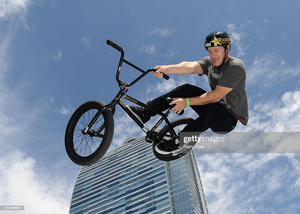 Sean Sexton competes in the BMX Steet Final during X Games Los Angeles at the Event Deck at L. A. Live on August 3, 2013 in Los Angeles, California.