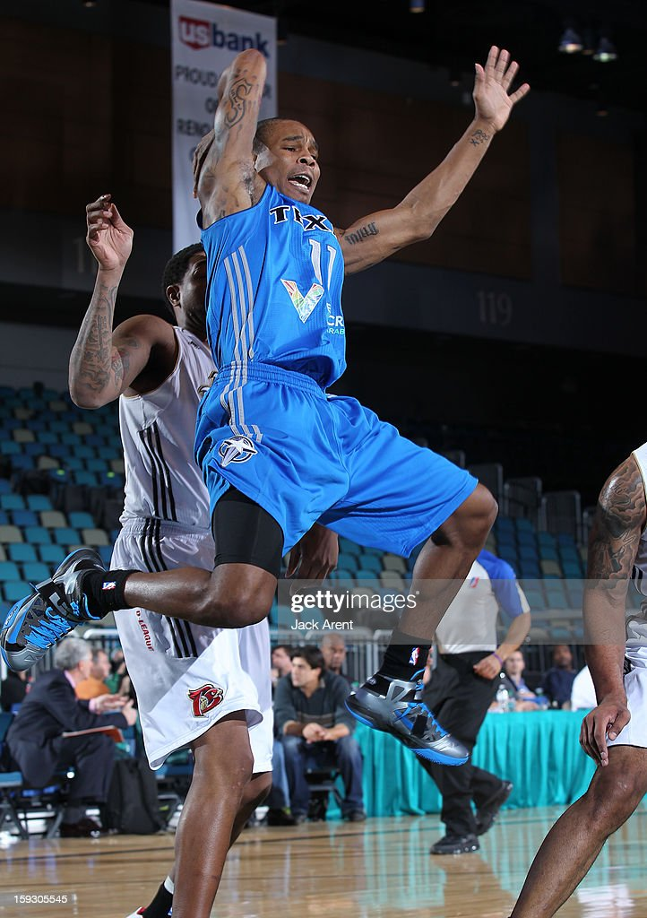 Sean Singletary #11 of the Texas Legends shoots the ball against the Erie Bayhawks during the 2013 NBA D-League Showcase on January 10, 2013 at the Reno Events Center in Reno, Nevada.
