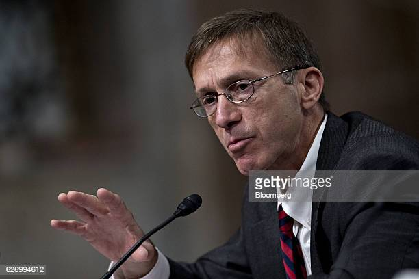 Sean Stackley assistant secretary for research development and acquisition at the Department of the Navy speaks during a Senate Armed Forces...