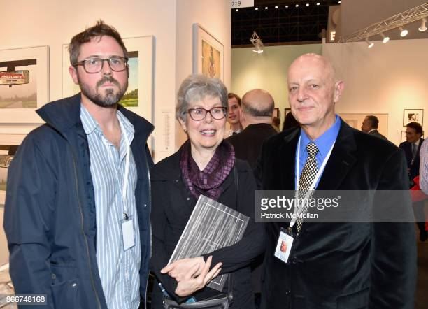 Sean Stewart Roberta Waddell and Norm Stewart attend the IFPDA Fine Art Print Fair Opening Preview at The Jacob K Javits Convention Center on October...