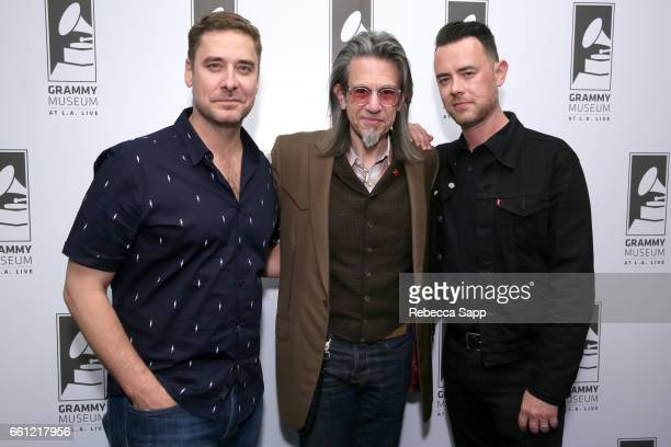 Sean Stuart Vice President of the GRAMMY Foundation Scott Goldman and Colin Hanks attend Reel to Reel Eagles of Death Metal Our Friends at The GRAMMY...