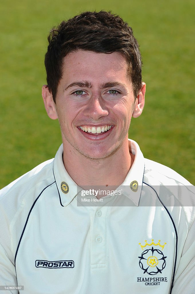 Sean Terry of Hampshire poses for a portrait during the Hampshire CCC Photocall at the Rosebowl on April 10, 2012 in Southampton, England.