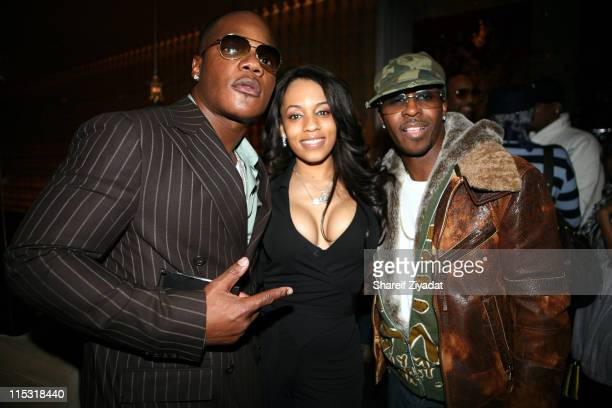 Sean 'The Pen' Gerrat Melyssa Ford and Kwame during T3 Agency presents Sean 'The Pen' Gerrat Birthday Party at Megu in New York New York United States