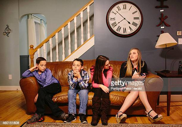 Sean Will Lindsey and Krista Boylen sit on their family living room couch in Gorham ME on Thursday November 20 2014 Jen and Bob Boylen said they hope...