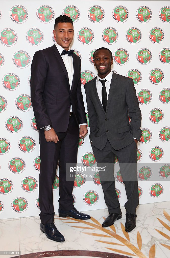 Sean Wright Phillips and guest attend the Didier Drogba Foundation Charity Ball at Dorchester Hotel on March 10 2012 in London England
