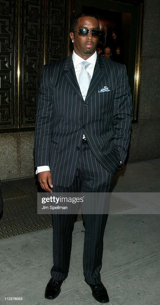 Sean'P.Diddy' Combs during 'The Sopranos' 4th Season - Premiere at Radio City Music Hall in New York City, New York, United States.