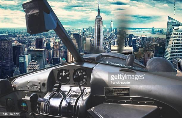 Wasserflugzeug Cockpit über Manhattan