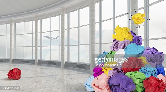 Search for great idea . Mixed media : Stock Photo