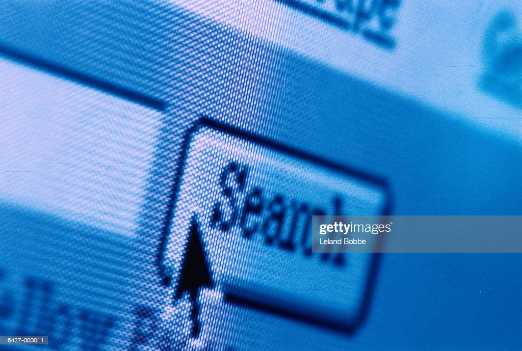 Search Icon on Computer Screen : Stock Photo
