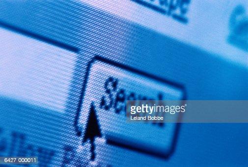 Search Icon on Computer Screen : Foto de stock