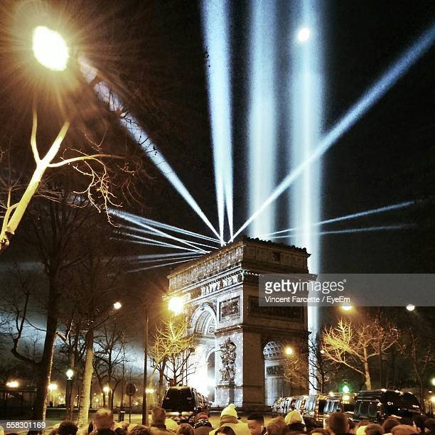 Search Lights Over Arc De Triomphe