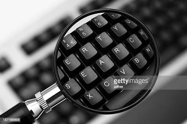 Ricerca scritti sulla tastiera con la lente d'ingrandimento