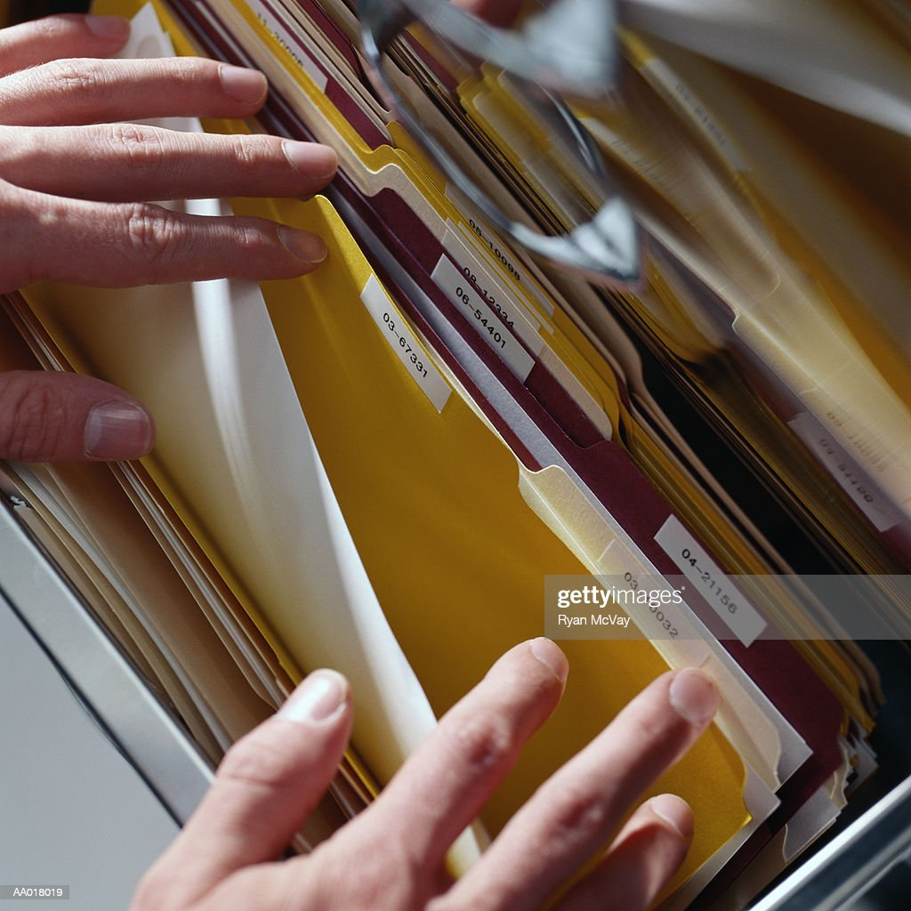 Searching for a File : Stock Photo