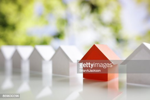 Searching for real estate property, house or new home : Stock Photo