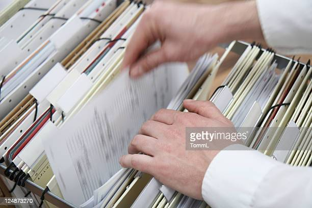 searching in a file cabinet