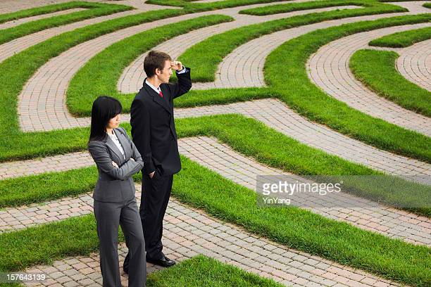 Searching Maze for Career Job, Business Corporate Future, Strategy Solutions