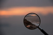 sunset, Magnifying Glass, Eye, Commercial Sign, Human Eye,