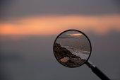 sunset, Magnifying Glass, Eye, Commercial Sign, Human Eye,