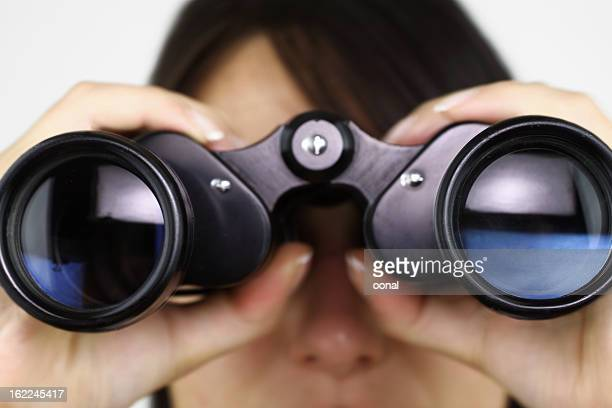 Searching with binoculars