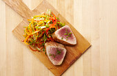 Seared Ahi Tuna and Garnish
