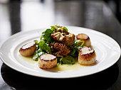 Seared Alaskan scallops with roasted cauliflower
