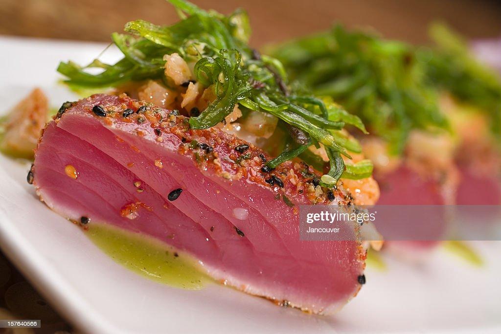 Seared and Seasoned Ahi Tuna Salad
