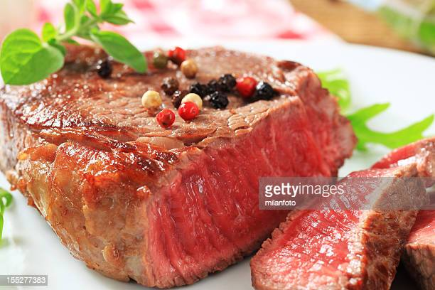 Seared beef steak