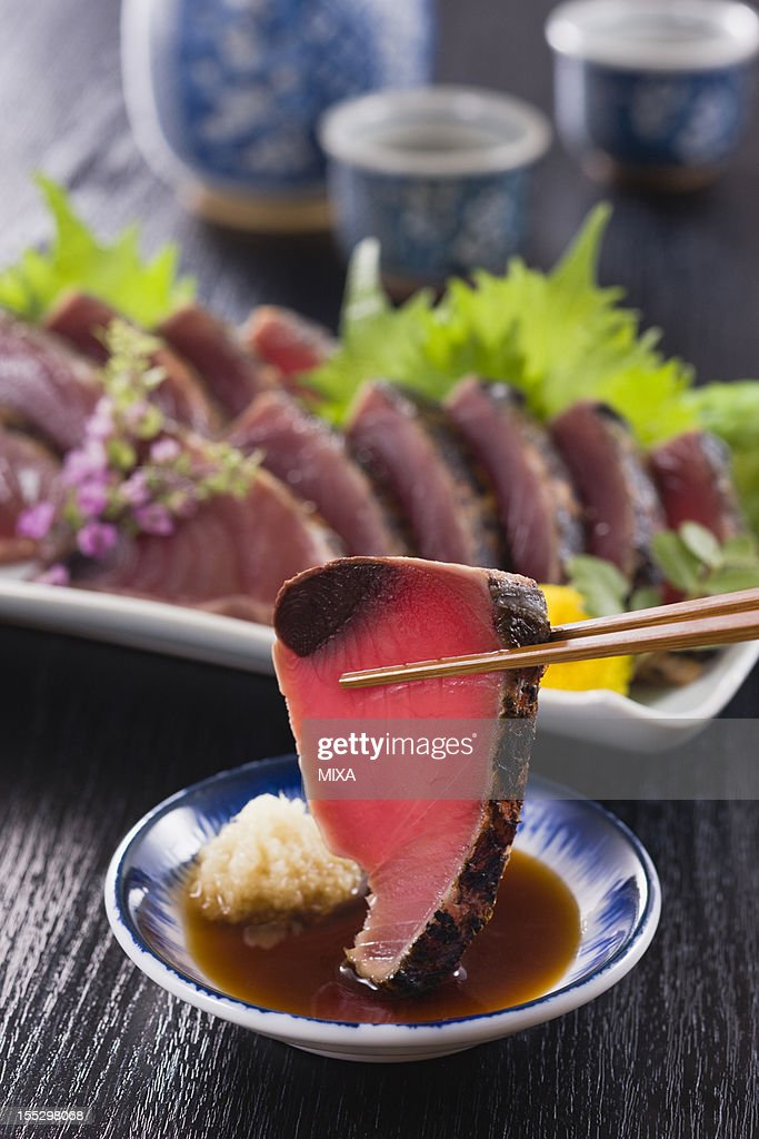 Seared Bonito Dipped into Soy Sauce