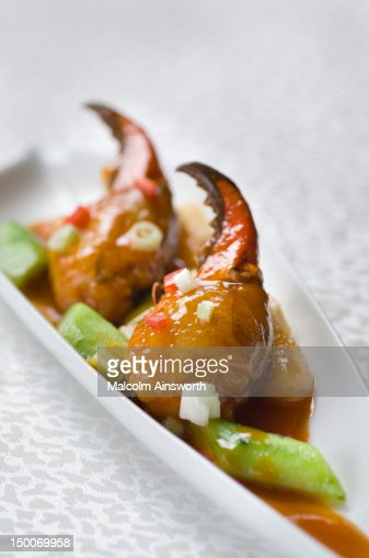 Seared crab claws : Stock Photo
