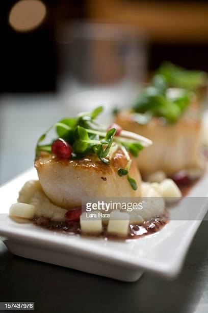 Seared scallops