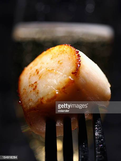 Seared Sea Scallop and champagne