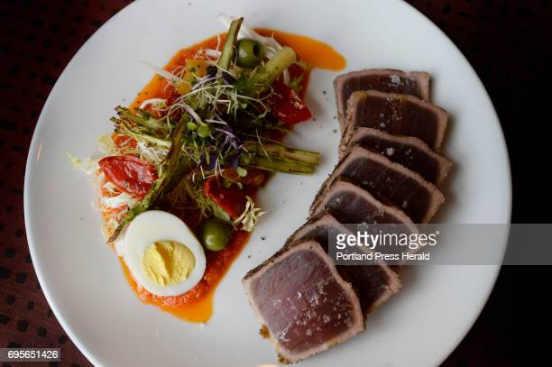 Seared yellowfin tuna at Top of the East in Portland Monday June 5 2017