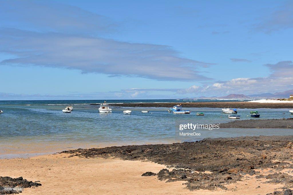 Seascape Majanicho beach Fuerteventura Canary Islands Spain : Stock Photo