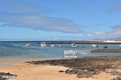 Seascape Majanicho playa isla de Fuerteventura islas Canarias, España : Foto de stock