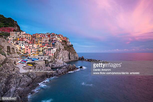 Seascape of Manarola at sunset