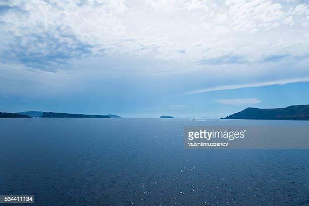 Seenlandschaft der Insel Santorin, Griechenland