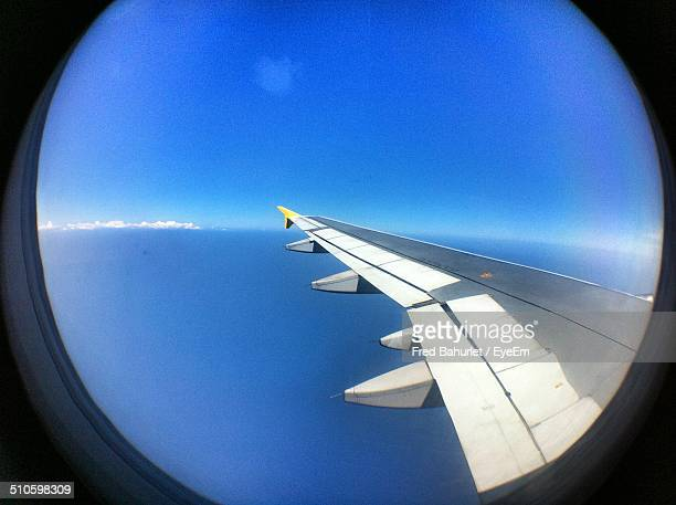 Seascape seen from airplane