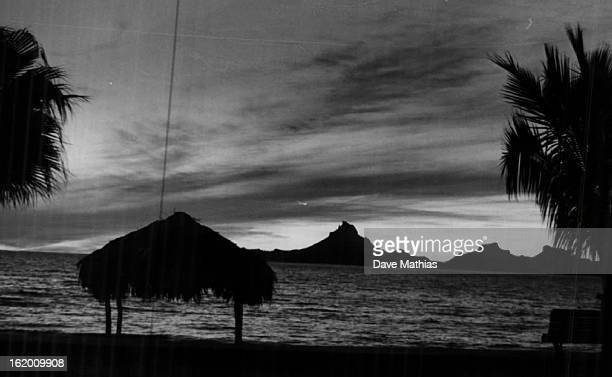 JAN 7 1965 JAN 10 1965 Seashore near Guaymas Mexico Provides Idyllic scene at sunset