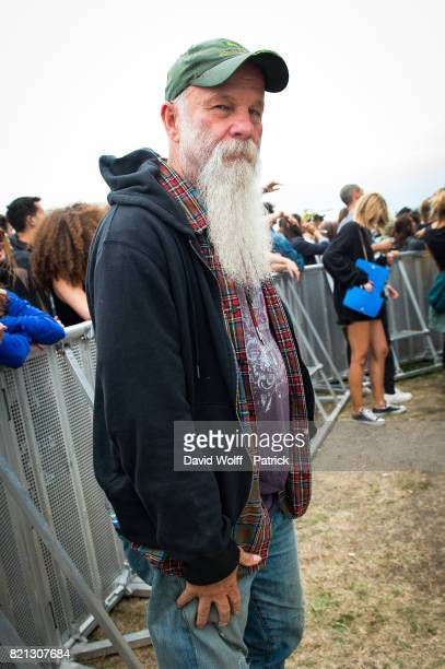 Seasick Steve is posing during first Lollapalooza Festival in France at Hippodrome de Longchamp on July 23 2017 in Paris France