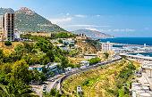 Seaside boulevard in Oran, a major city in Algeria, North Africa