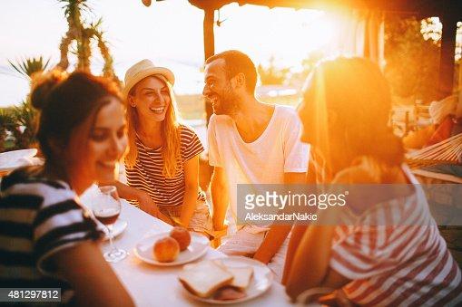 Seaside dinner party