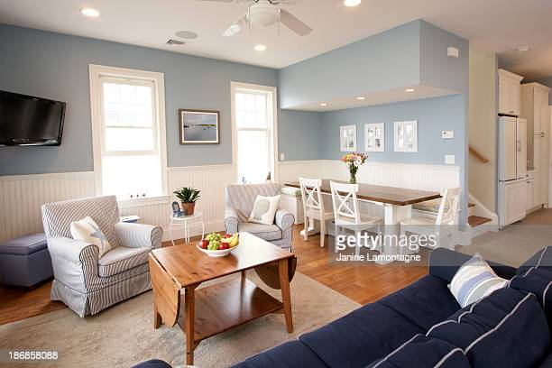 Seaside house interior, living room
