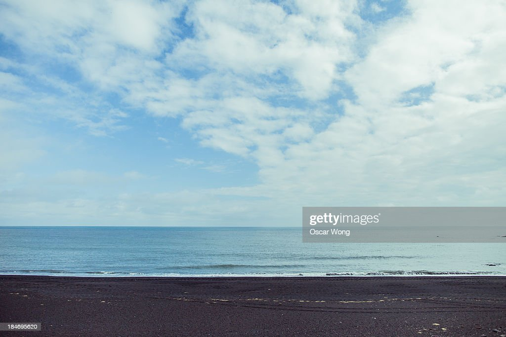 A seaside in Vik : Stock Photo