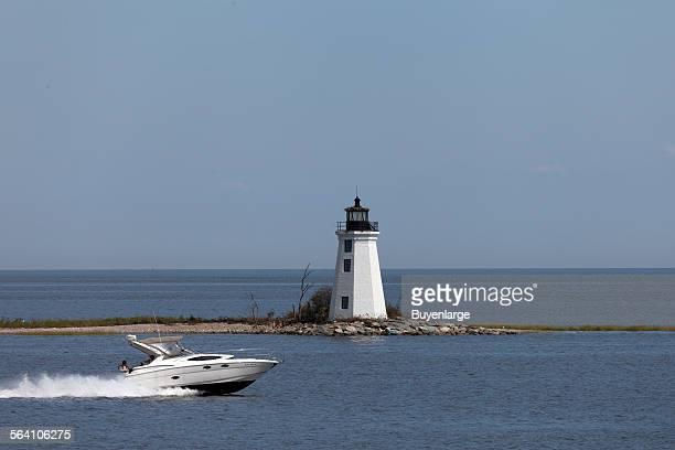 Seaside Park Lighthouse in Bridgeport Connecticut