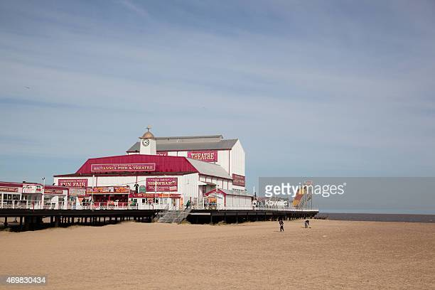 seaside pleasure pier and beach at Great Yarmouth Norfolk England