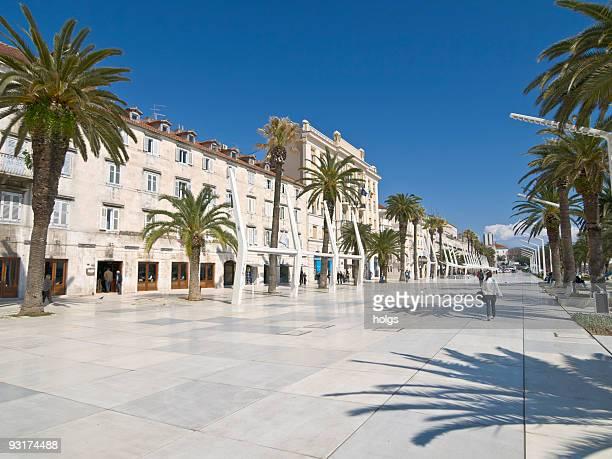 Seaside promenade in Split, Croatia