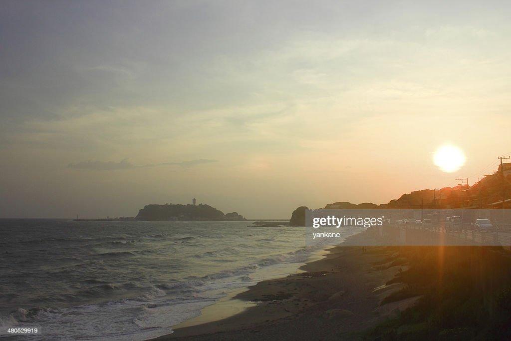 Seaside resort in Kamakura,Kanagawa : Stock Photo