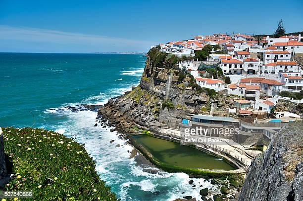 Seaside town at Azenhas do Mar of Lisbon Region Portugal