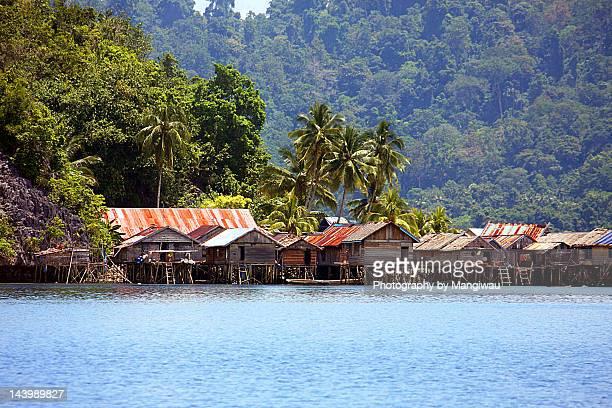 Seaside village on stilts